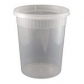 Deli Container with Lid, 32 oz Plastic