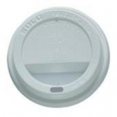 Solo - Lid, White Poly Dome Hot Drink Lid with Sip Hole, Fits 12-24 oz