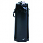 Wilbur Curtis - Airpot, 2.2 Liter Black Plastic Exterior with Glass Liner and Lever Handle