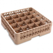 Vollrath - Traex Glass Rack with 25 Compartments (Full Size), Beige Plastic