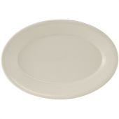 Tuxton - Reno Platter with Wide Rim, 11.625x8.25 Oval Eggshell China