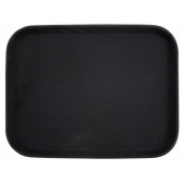 Winco - Serving Tray, 14x18 Rectangular Black Easy-Hold Rubber-Lined