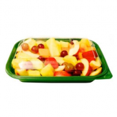 Food Container Base, 10x7x1.75 Green PP Plastic