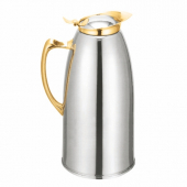 Carafe, 33 oz Stainless Steel Lined with Gold Trim
