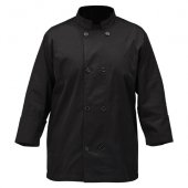 Winco - Chef Jacket, Tapered Black, Large