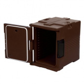 Cambro - Ultra Camcart Carrier for Food Pans, 20.5x54x27.125 Dark Brown Front Loading Insulated