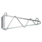 "Winco - Wire Shelving Wall Mount Brackets, 14"" Chrome Plated"
