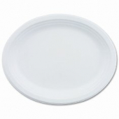 Chinet Platter, 9.75x12.5 White Oval