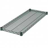 Winco - Wire Shelving Set, 24x42 Green Epoxy Coated with 5 Shelves