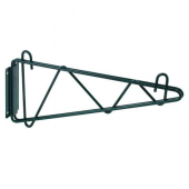 "Winco - Wire Shelving Wall Mount Brackets, 14"" Green Epoxy Coated"