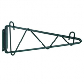"Winco - Wire Shelving Wall Mount Brackets, 18"" Green Epoxy Coated"