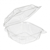 Inline Plastics - VisiblyFresh Container, 6x6x3 Hinged Clear Plastic