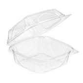 Inline Plastics - VisiblyFresh Container, 7x6x3 Hinged Clear Plastic