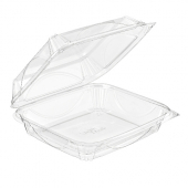 Inline Plastics - VisiblyFresh Container, 9x8x3 Hinged Clear Plastic