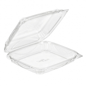 Inline Plastics - VisiblyFresh Container, 9x8x2 Hinged Clear Plastic