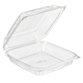 Inline Plastics - VisiblyFresh Container, 9x9x3 Hinged Clear Plastic