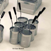 Rosito Bisani - Pasta Cooker Baskets, 1/6 Size Stainless Steel Basket, 6 count