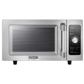Midea - Microwave Oven, Commerical Light Duty, 1000W 25 Liter Capacity with Dial Controls, Stainless