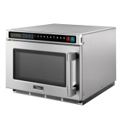 Midea - Microwave Oven, Commercial Heavy Duty with USB Port, 1800W 17 Liter Capacity with Keypad Con