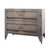 "Montague - Hearthbake Pizza Oven, Gas Double Deck with 4 Burners, 62x40.5x31 with 5"" Casters"