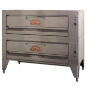 Montague Company - Gas Pizza Oven, Double Deck with 8 Burners, 81x45.5