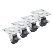 "Krowne Metal - Casters, Low Profile Adjustable Height 3.5""x3.5"" Plate, 2"" Wheel, 4 count"