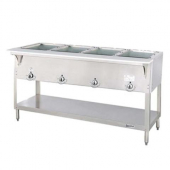 Duke - Aerohot Steam Table with 4 Wells, Gas, 58.38x22.44x34 Stainless Steel, 10,000 BTU