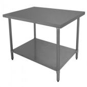 "GSW - Work Table, 48""x30"" Stainless Steel with Galvanized Legs"