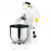 Omcan - Baking Mixer with Guard, 7 Quart White with Variable Speed Controls