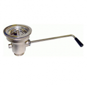 "GSW - Twist Handle Waste Valve with Strainer, 3.5"" Sink Opening and 1.5"" Drain Outlet"