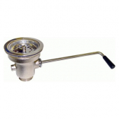 "GSW - Twist Handle Waste Valve with Strainer, 3.5"" Sink Opening and 2"" Drain Outlet"