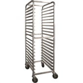 "GSW - Bun Pan Rack, 21x26x70 All Welded Aluminum with 4 6"" Swivel Casters with Brake, Fits 18x26 Bun"
