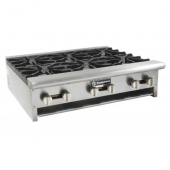 GSW - Countertop Hot Plate with 10 Burners, 60x30x10, Total BTU 320,000