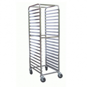 "GSW - Bun Pan Rack, 21x26x70 All Welded Stainless Steel with 4 6"" Swivel Casters with Brake, Fits 18"