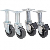 "Pitco - Casters, 9"" Adjustable with 2 Locking and 2 Non-Locking"