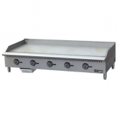 "Admiral Craft - Black Diamond Griddle with 5 Burners, 60"" Thermostatic Natural Gas, 60x16x32 Stainle"