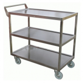 GSW - Bussing Cart, 18x33 Stainless Steel with Single Handle, Heavy Duty