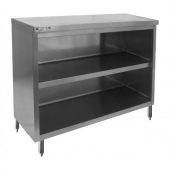 "GSW - Dish Cabinet Table with Flat Top, 15x36x35 Stainless Steel with 1.5"" Adjustable Legs"