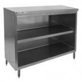 "GSW - Dish Cabinet Table with Flat Top, 15x72x35 Stainless Steel with 1.5"" Adjustable Legs"