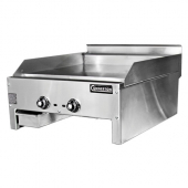 Connerton - Gas Griddle, Countertop, 36x22x1 Steel Griddle Plate with 3 Thermostatic Controls, 66,00