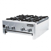 "Connerton - Gas Hotplate, Countertop, 24"" with Cast Iron Grates, Manual Controls, 112,000 BTU, each"