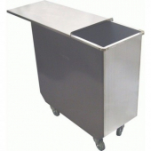 GSW - Bin with Sliding Cover, 100 Qt Stainless Steel, 12x25x27