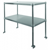GSW - Double Over Shelf, 48x48x15.25 Adjustable Stainless Steel