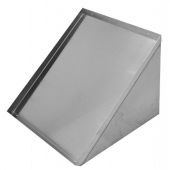 GSW - Wall Mount Shelf for Glass Rack, Slanted 24x22 Stainless Steel