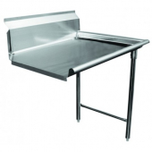 GSW - Clean Dishtable, Right, Heavy Duty Stainless Steel, 30x36x45.5