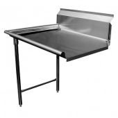 GSW - Clean Dishtable, Left, Heavy Duty Stainless Steel, 30x48x45.5