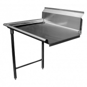 GSW - Clean Dishtable, Right, Heavy Duty Stainless Steel, 30x48x45.5
