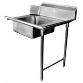GSW - Soiled Dishtable, Right, Heavy Duty Stainless Steel, 30x48x45.5