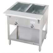 Duke - Aerohot Steam Table with 2 Wells, Electric, 30.38x22.44x34 Stainless Steel