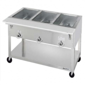Duke - Aerohot Steam Table with 3 Wells, Electric, Portable, 44.38x22.44x34 Stainless Steel